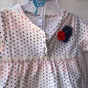 Carters Toddler Gathered Top 2T with lining
